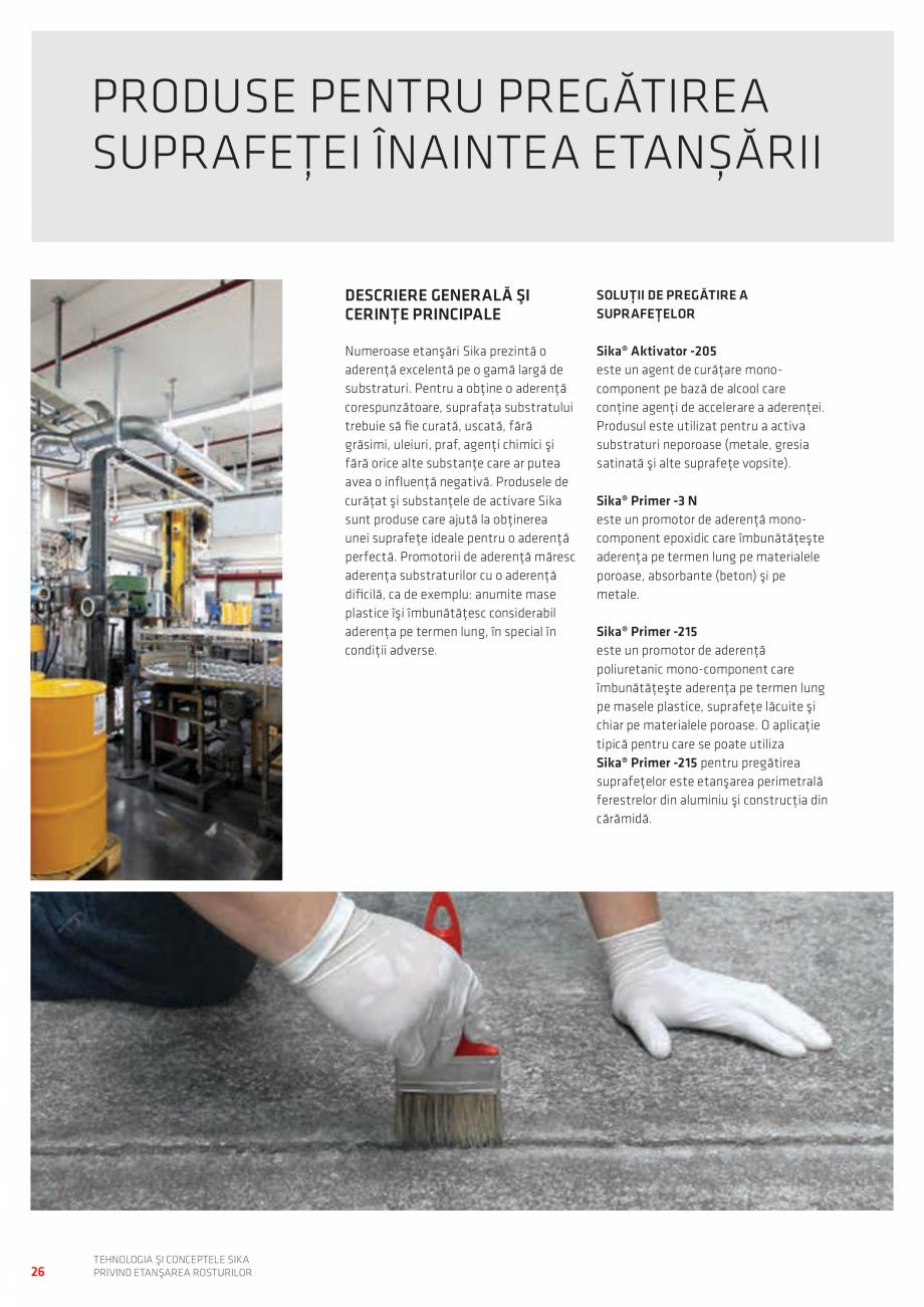 Pagina 26 - Tehnologia si Conceptele Sika privind etansarea rosturilor  Catalog, brosura Romana  Să...