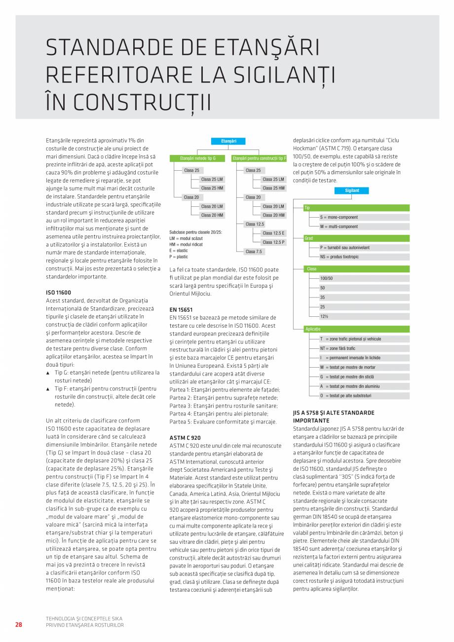 Pagina 28 - Tehnologia si Conceptele Sika privind etansarea rosturilor  Catalog, brosura Romana ă...