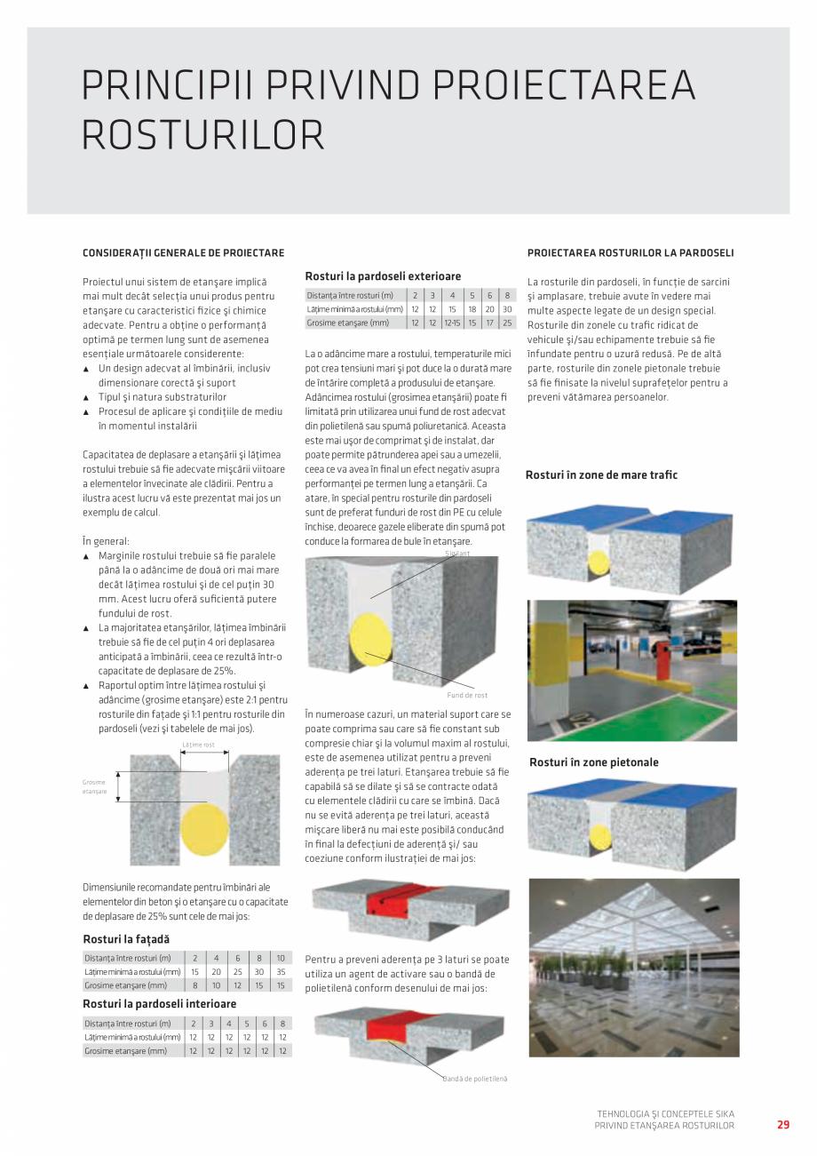Pagina 29 - Tehnologia si Conceptele Sika privind etansarea rosturilor  Catalog, brosura Romana ui. ...