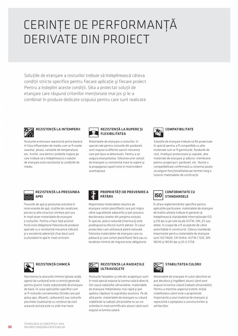 Pagina 30 - Tehnologia si Conceptele Sika privind etansarea rosturilor  Catalog, brosura Romana se...