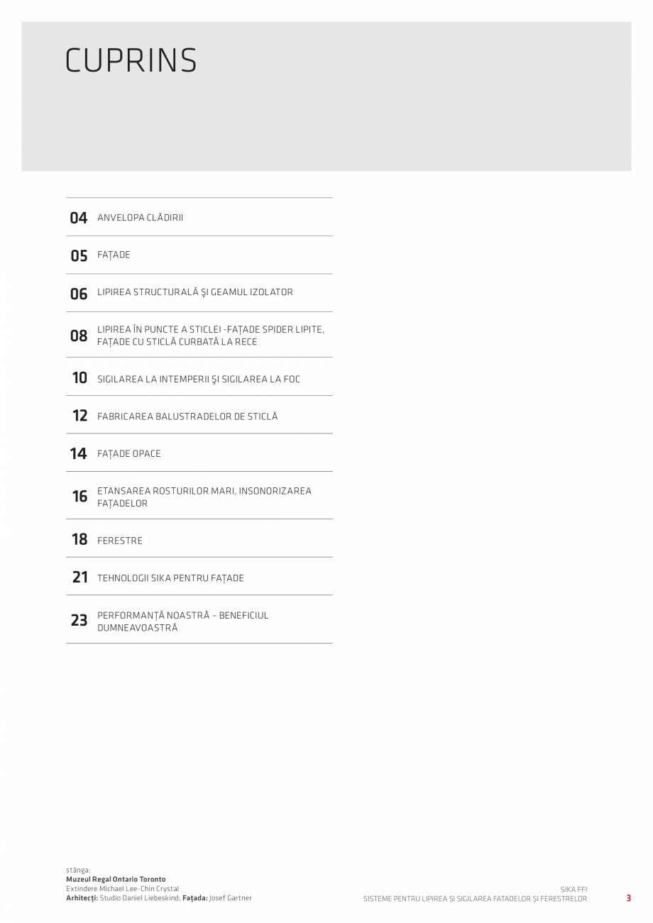Pagina 3 - Sisteme pentru lipirea si sigilarea fatadelor si ferestrelor  Catalog, brosura Romana şi...