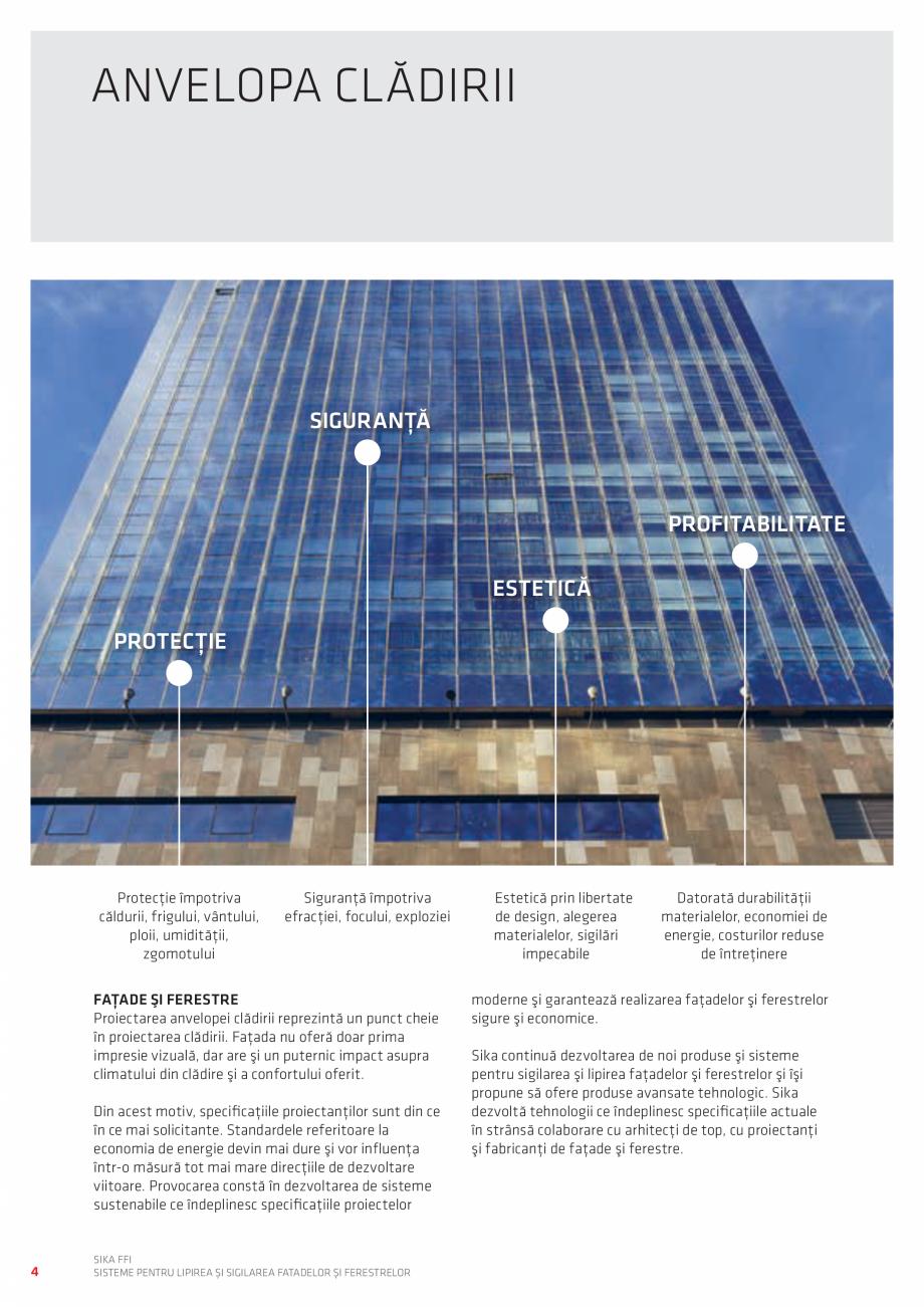 Pagina 4 - Sisteme pentru lipirea si sigilarea fatadelor si ferestrelor  Catalog, brosura Romana vă...