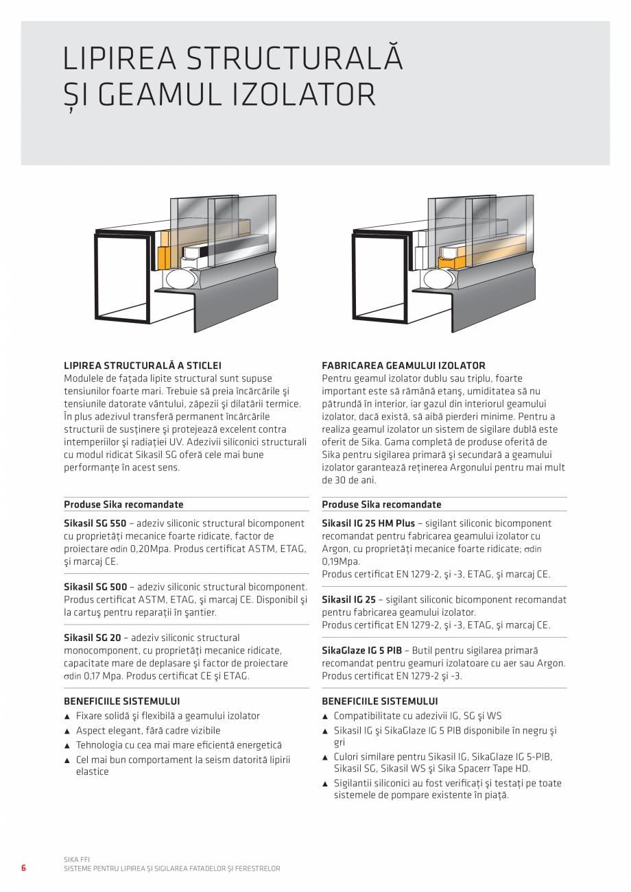Pagina 6 - Sisteme pentru lipirea si sigilarea fatadelor si ferestrelor  Catalog, brosura Romana...