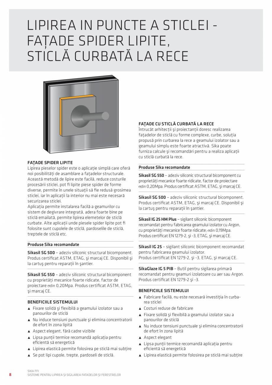 Pagina 8 - Sisteme pentru lipirea si sigilarea fatadelor si ferestrelor  Catalog, brosura Romana e...