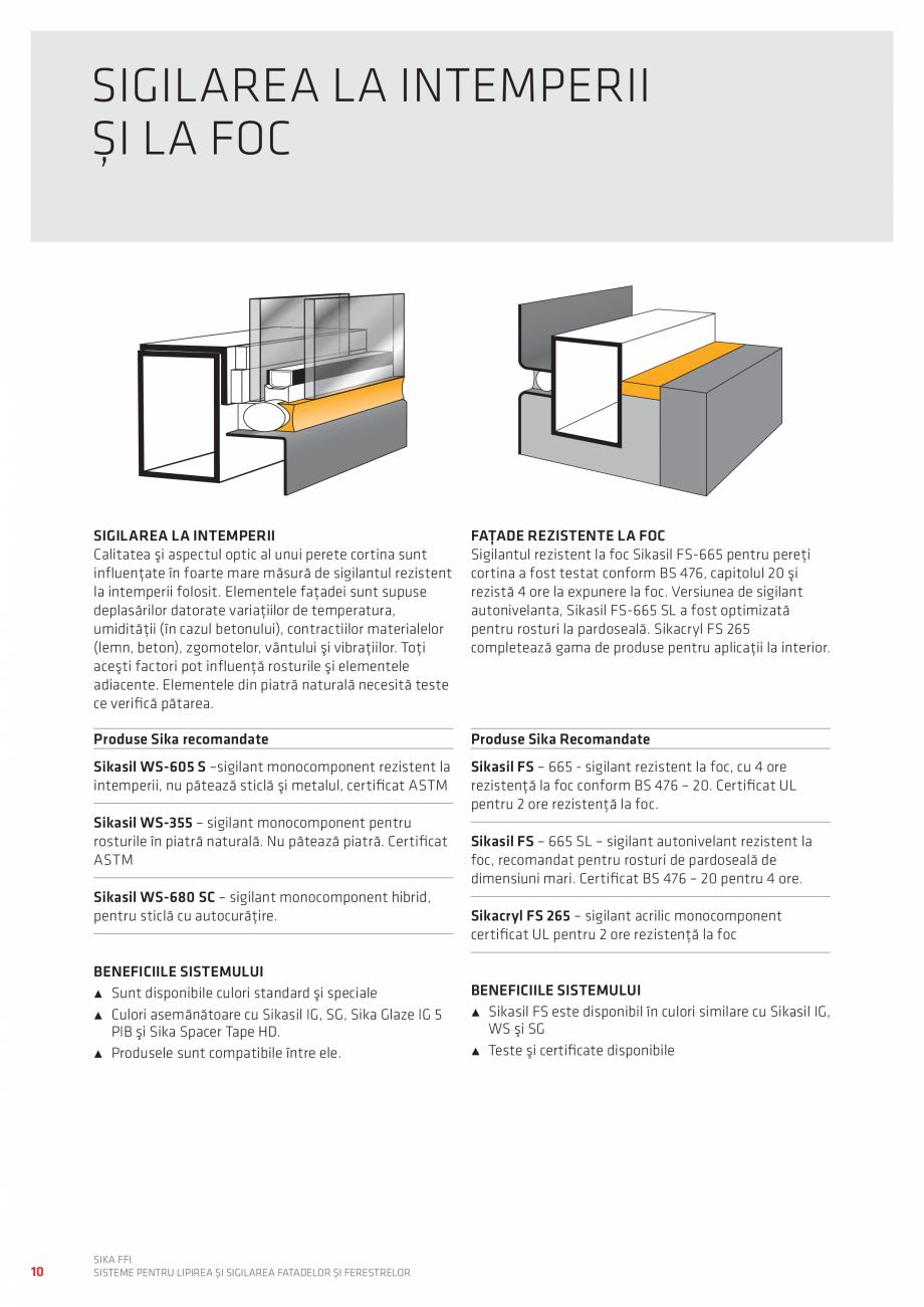 Pagina 10 - Sisteme pentru lipirea si sigilarea fatadelor si ferestrelor  Catalog, brosura Romana...