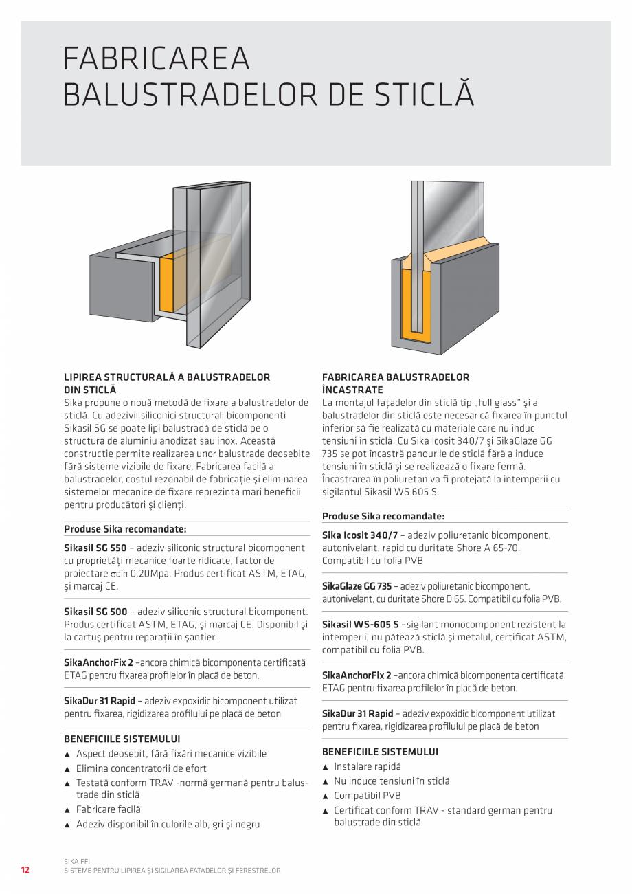 Pagina 12 - Sisteme pentru lipirea si sigilarea fatadelor si ferestrelor  Catalog, brosura Romana...