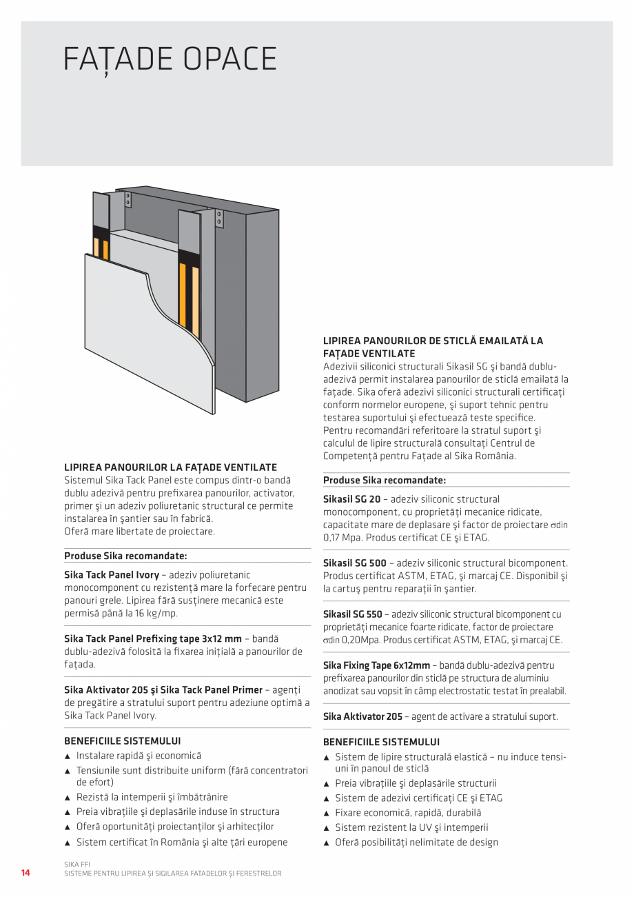 Pagina 14 - Sisteme pentru lipirea si sigilarea fatadelor si ferestrelor  Catalog, brosura Romana me...