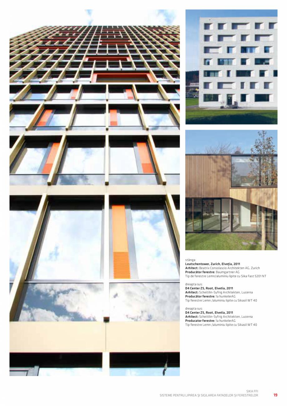 Pagina 19 - Sisteme pentru lipirea si sigilarea fatadelor si ferestrelor  Catalog, brosura Romana ...