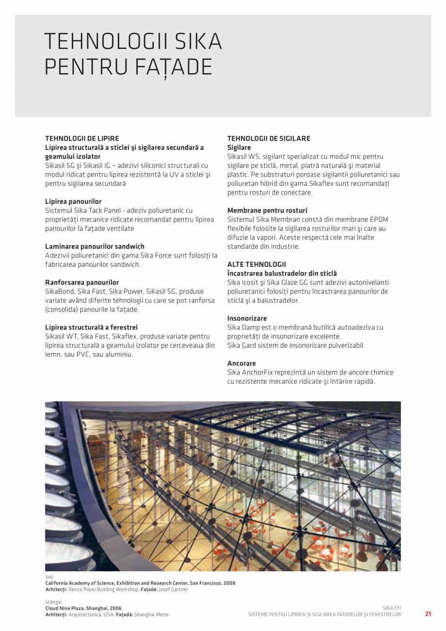 Pagina 21 - Sisteme pentru lipirea si sigilarea fatadelor si ferestrelor  Catalog, brosura Romana...