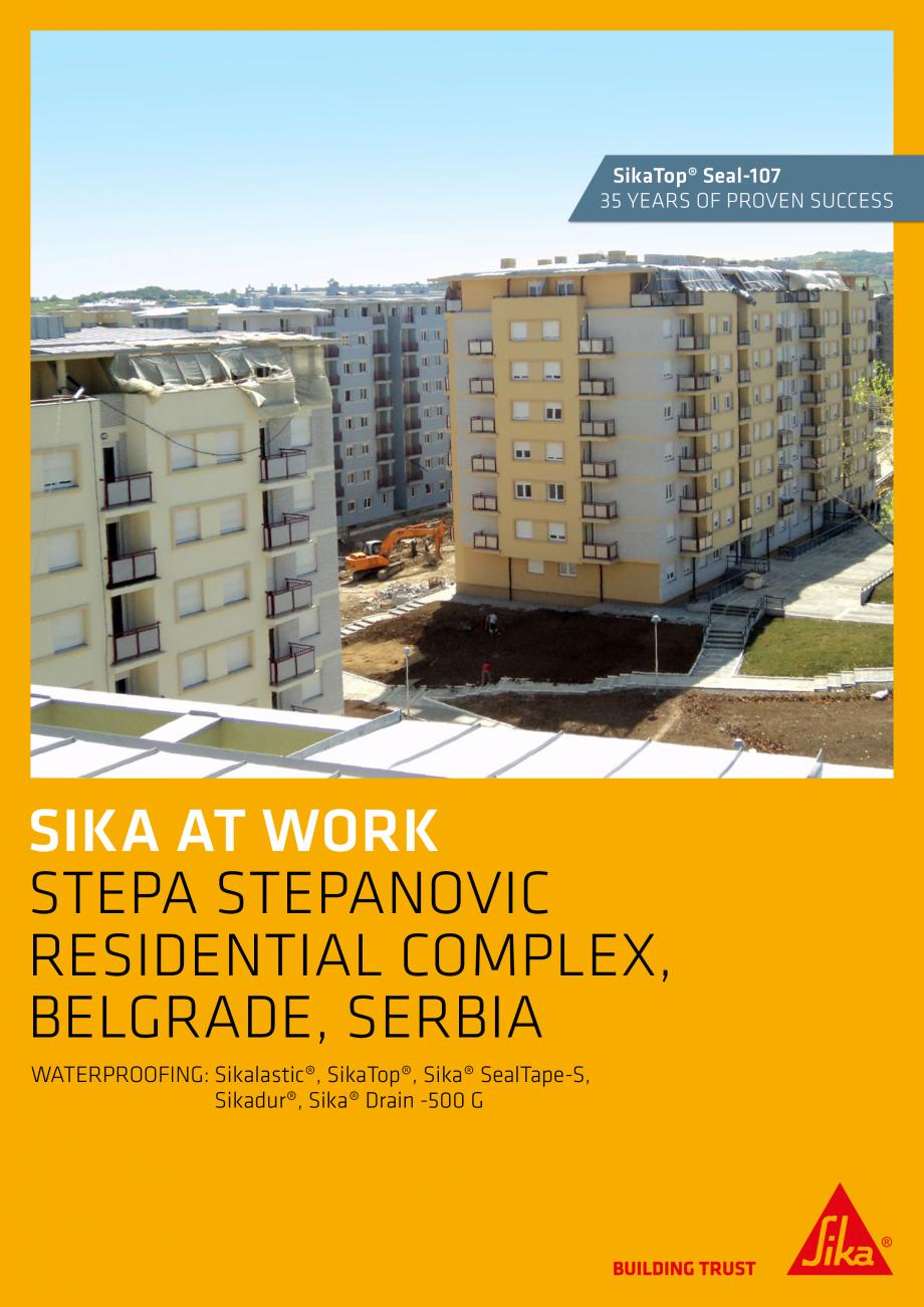 Pagina 1 - Sika at Work - Impermeabilizare Complex Rezidential Stepa Stepanovic  - Serbia SIKA...