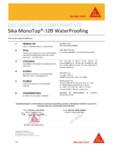 Declaratie conformitate SIKA - Sika Monotop® 109 Waterproofing