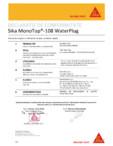 Declaratie conformitate SIKA - Sika Monotop® 108 Waterplug