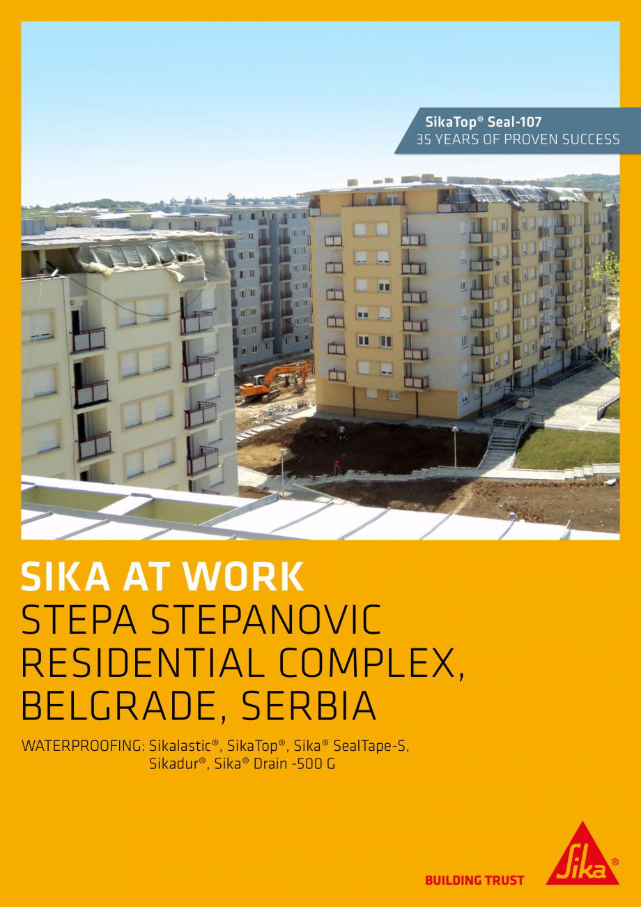 Pagina 1 - Sika at Work - Impermeabilizare Complex Stepa Stepanovic Residential - Serbia SIKA...