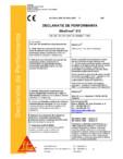 Declaratie de performanta SIKA - SikaGrout®-212