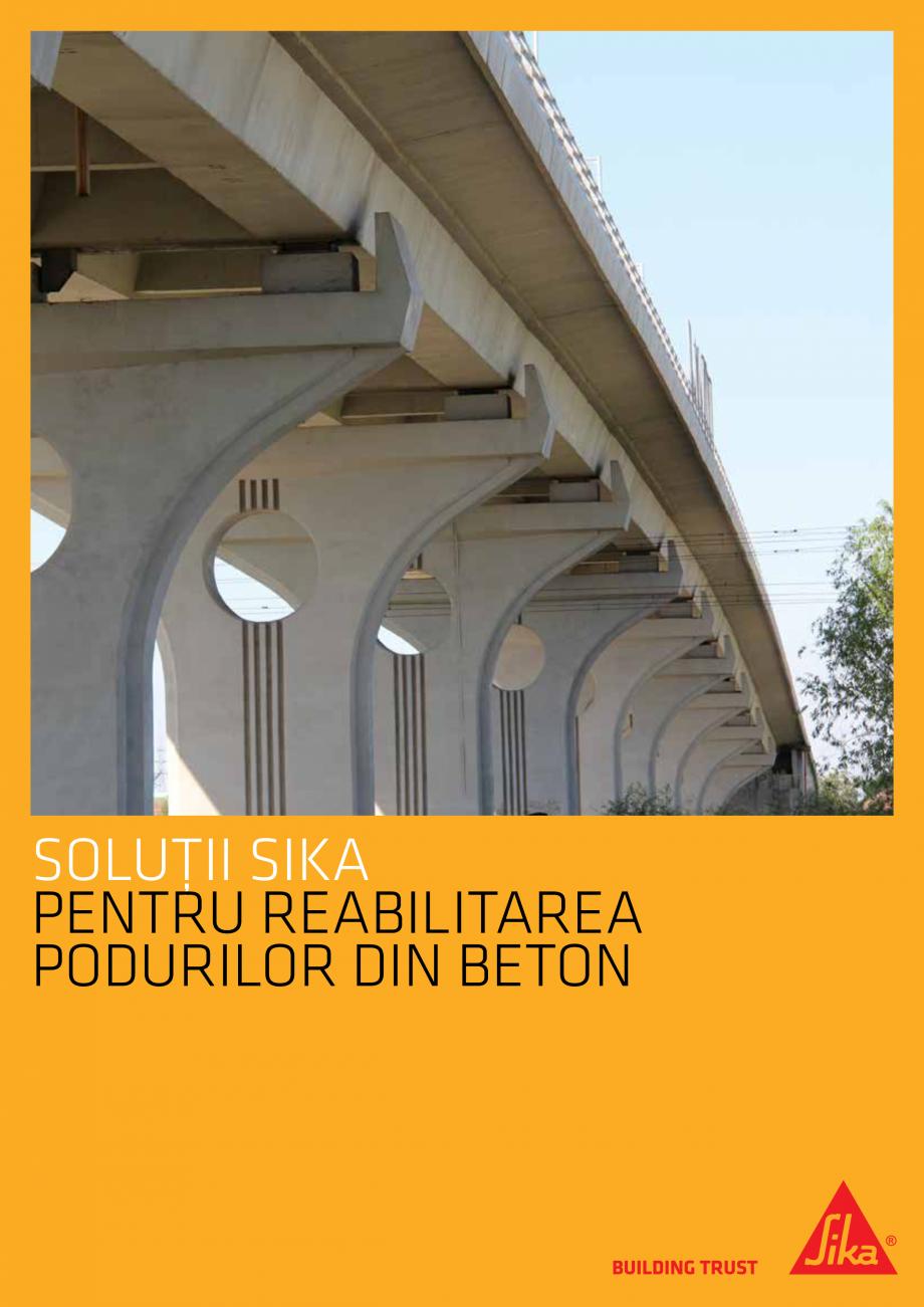 Pagina 1 - Solutii Sika pentru reabilitarea podurilor din beton SIKA Catalog, brosura Romana...
