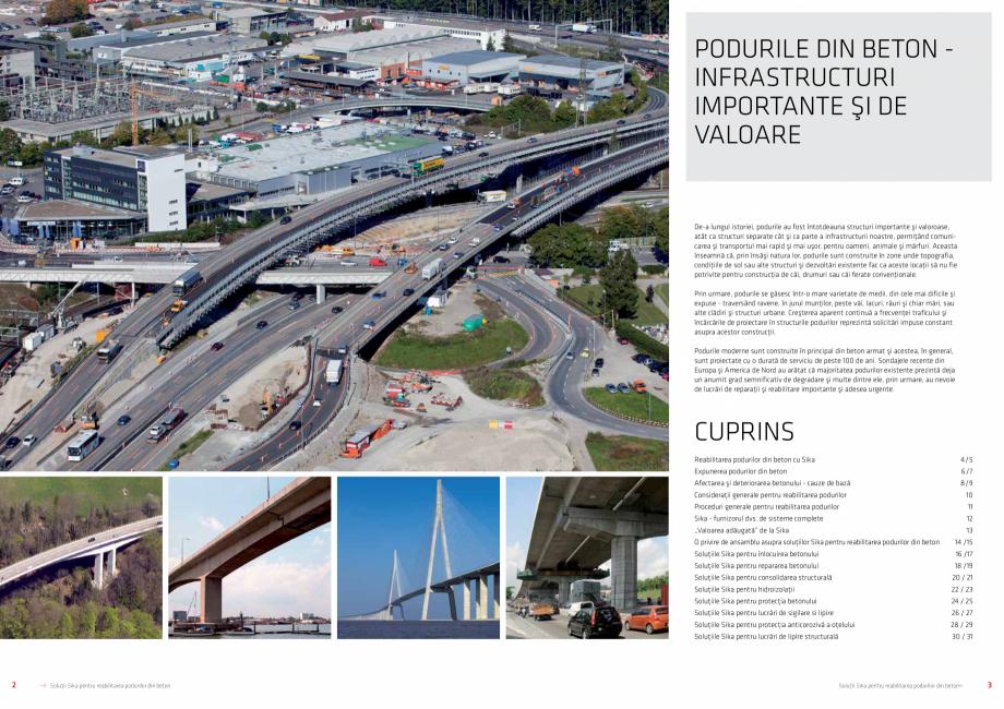 Pagina 2 - Solutii Sika pentru reabilitarea podurilor din beton SIKA Catalog, brosura Romana şi...