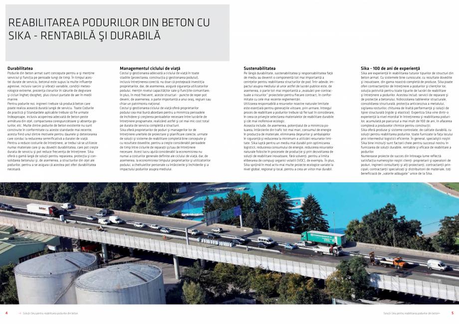 Pagina 3 - Solutii Sika pentru reabilitarea podurilor din beton SIKA Catalog, brosura Romana ea...