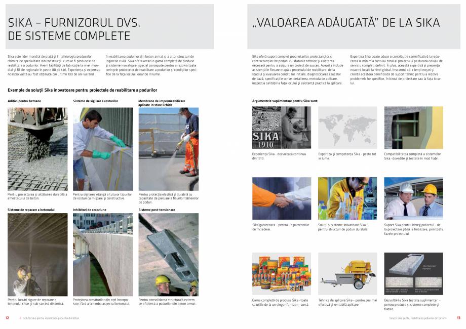 Pagina 7 - Solutii Sika pentru reabilitarea podurilor din beton SIKA Catalog, brosura Romana ...