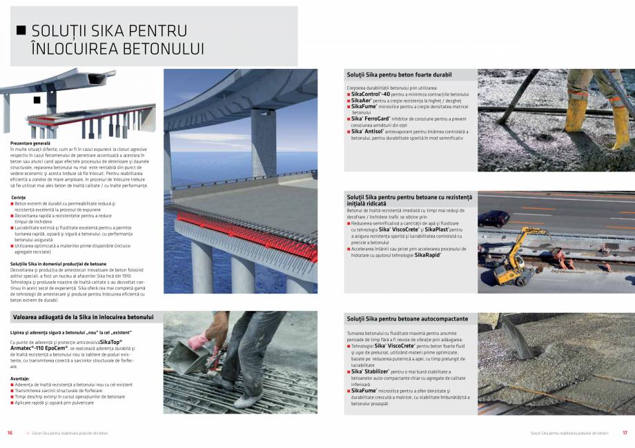 Pagina 9 - Solutii Sika pentru reabilitarea podurilor din beton SIKA Catalog, brosura Romana r...