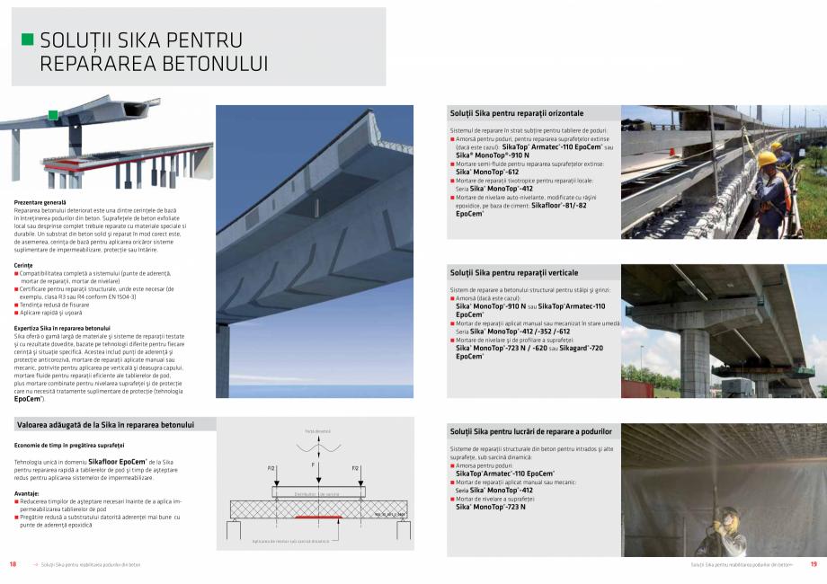 Pagina 10 - Solutii Sika pentru reabilitarea podurilor din beton SIKA Catalog, brosura Romana at....