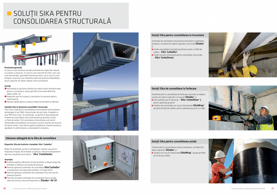 Pagina 11 - Solutii Sika pentru reabilitarea podurilor din beton SIKA Catalog, brosura Romana...
