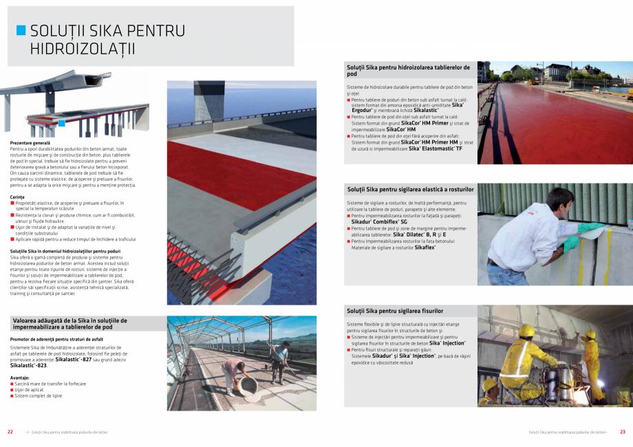 Pagina 12 - Solutii Sika pentru reabilitarea podurilor din beton SIKA Catalog, brosura Romana ţei...