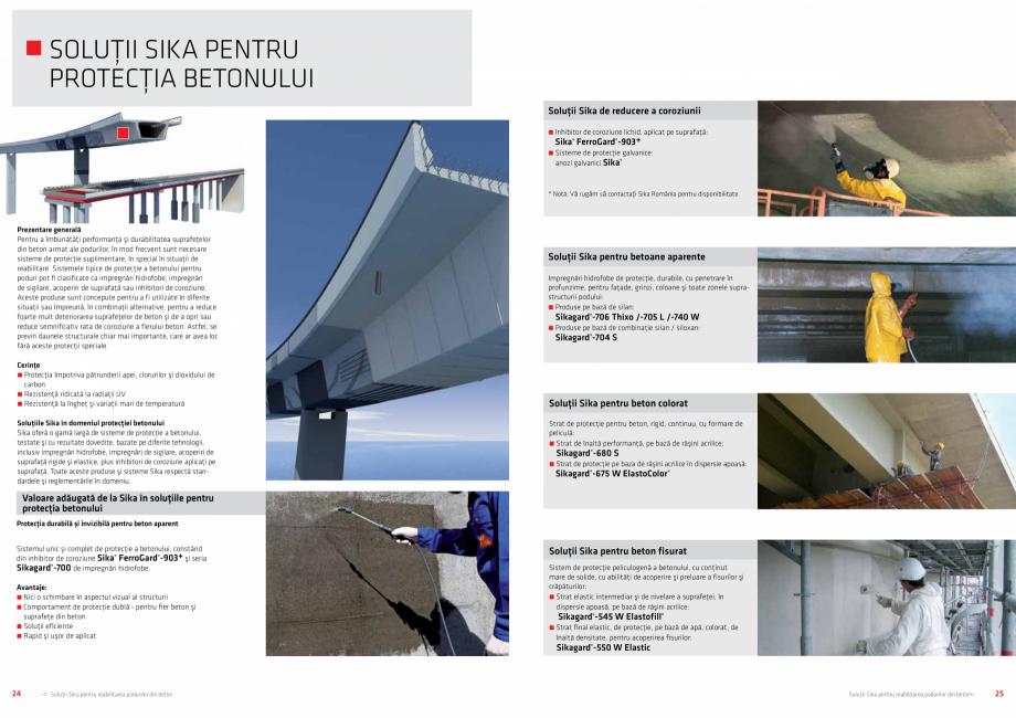 Pagina 13 - Solutii Sika pentru reabilitarea podurilor din beton SIKA Catalog, brosura Romana  C ...