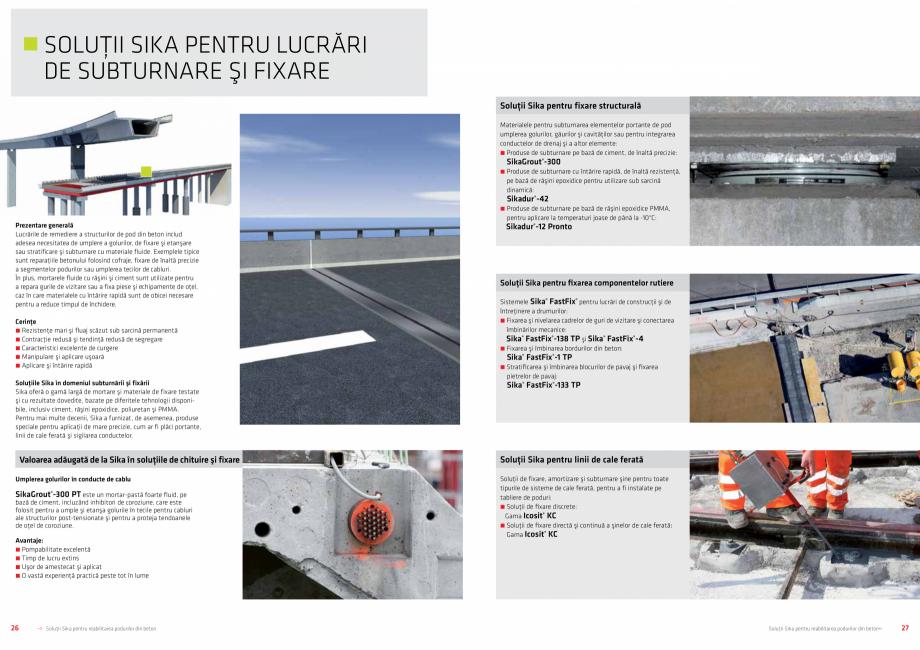 Pagina 14 - Solutii Sika pentru reabilitarea podurilor din beton SIKA Catalog, brosura Romana...