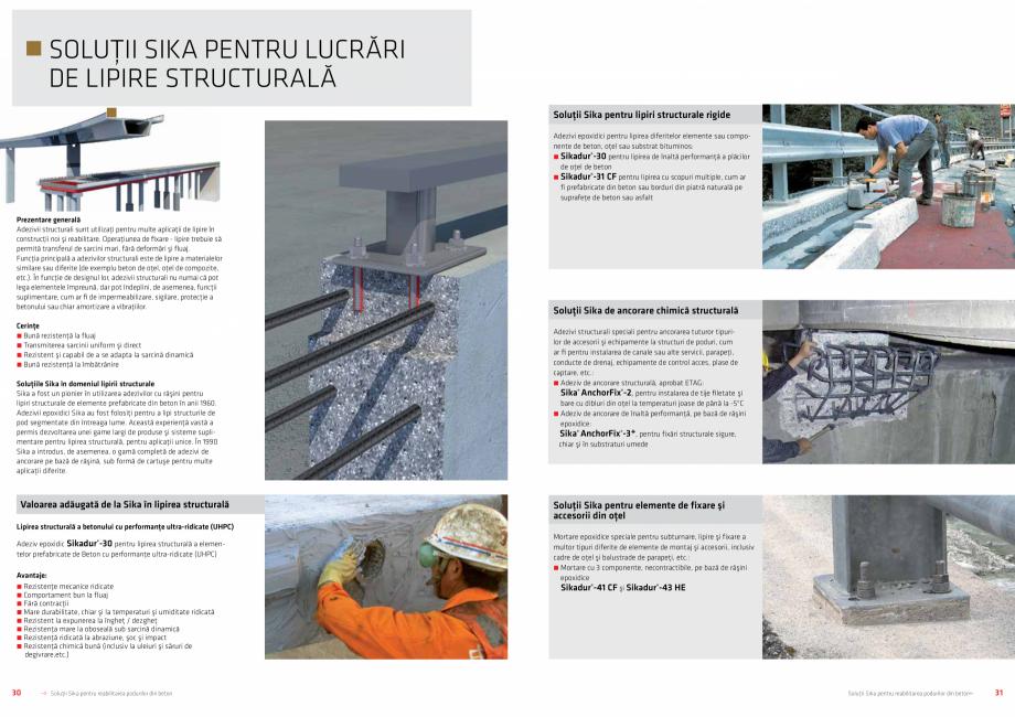 Pagina 16 - Solutii Sika pentru reabilitarea podurilor din beton SIKA Catalog, brosura Romana...