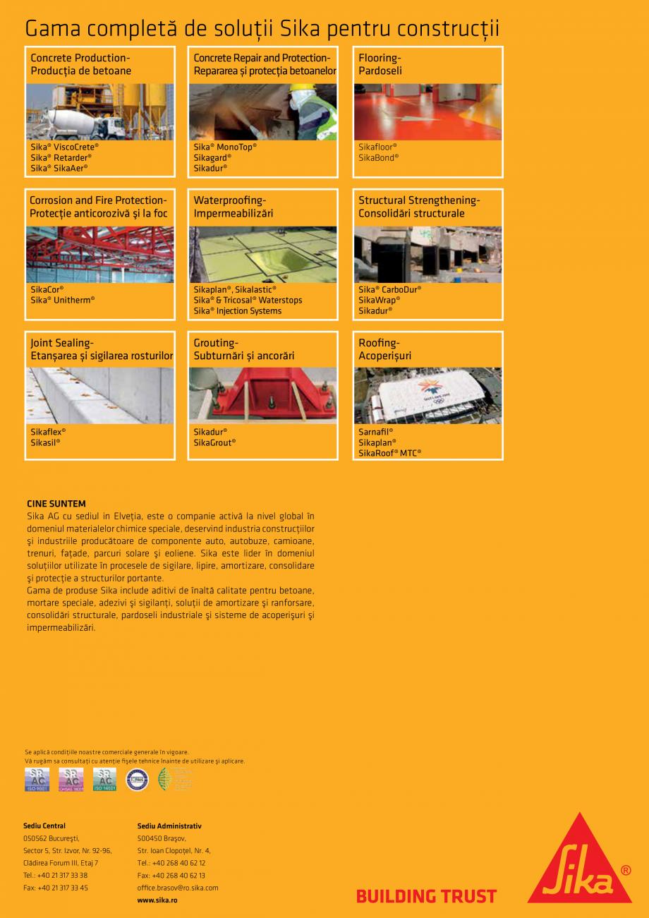 Pagina 17 - Solutii Sika pentru reabilitarea podurilor din beton SIKA Catalog, brosura Romana e...
