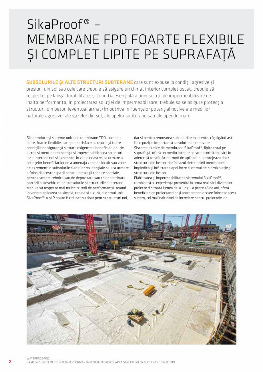 Pagina 2 - Sisteme pentru hidroizolarea structurilor subterane din beton SIKA Catalog, brosura...