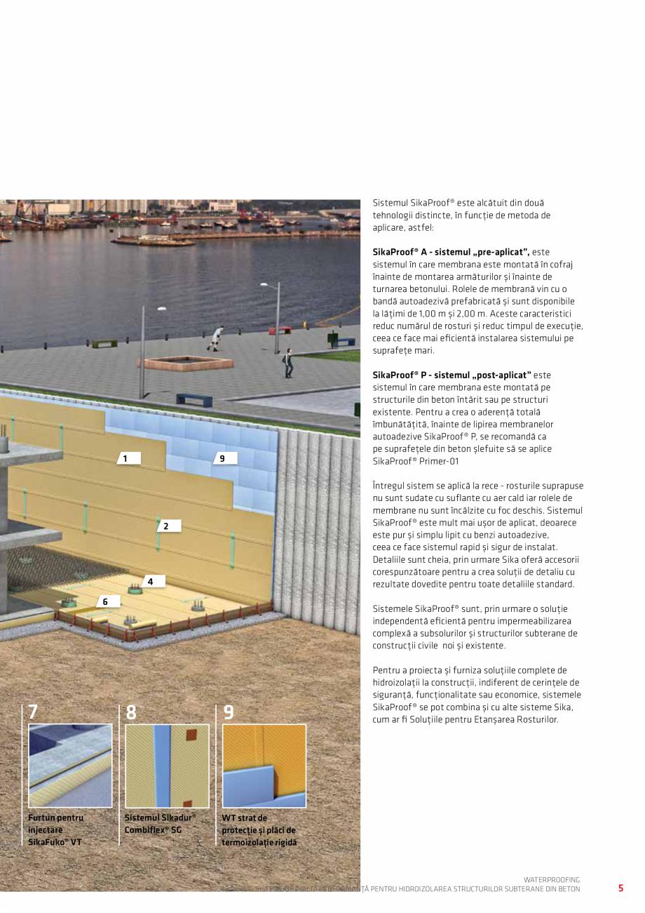 Pagina 5 - Sisteme pentru hidroizolarea structurilor subterane din beton SIKA Catalog, brosura...