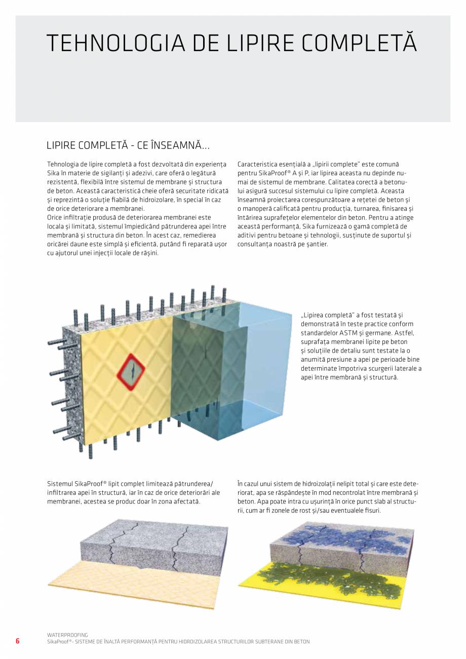 Pagina 6 - Sisteme pentru hidroizolarea structurilor subterane din beton SIKA Catalog, brosura...