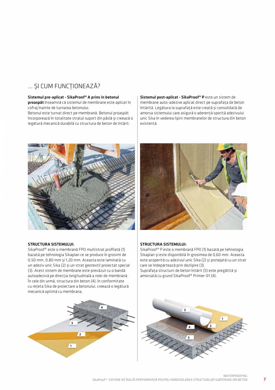 Pagina 7 - Sisteme pentru hidroizolarea structurilor subterane din beton SIKA Catalog, brosura...