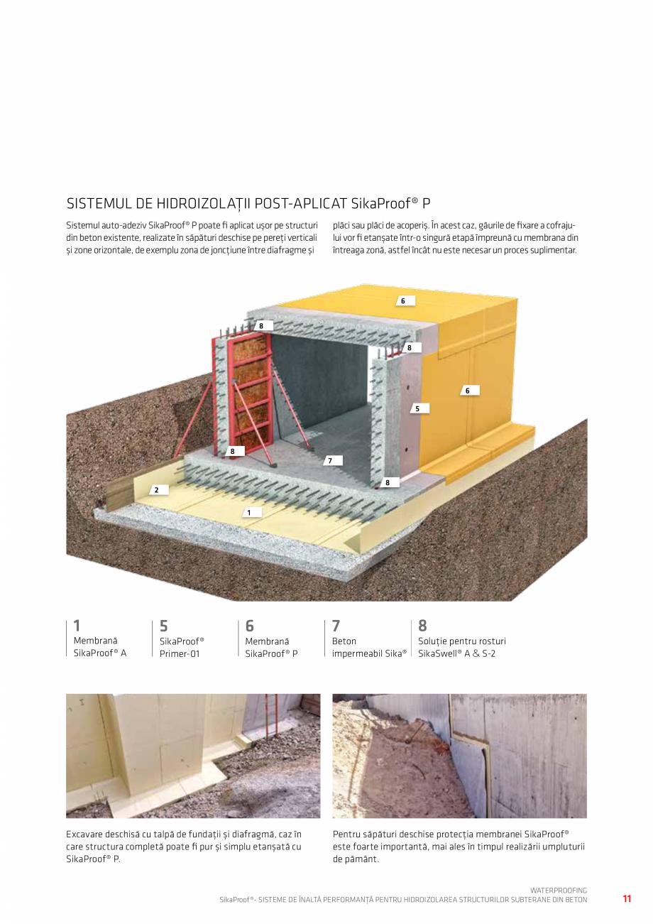Pagina 11 - Sisteme pentru hidroizolarea structurilor subterane din beton SIKA Catalog, brosura...
