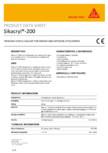Sigilant acrilic pentru umplerea fisurilor si sigilarea rosturilor SIKA - Sikacryl®-200