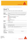 Sigilant siliconic cu intarire neutra, pentru constructii si aplicatii sanitare SIKA - Sikasil® C