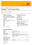 Adezvi si sigilant transparent SIKA - Sikaflex®-112 Crystal Clear