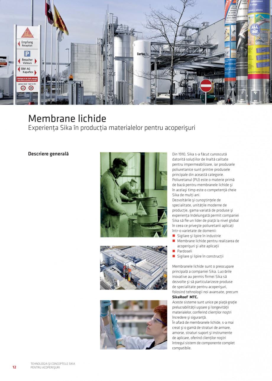 Pagina 12 - Tehnologia si conceptele Sika pentru acoperisuri SIKA Sarnafil® TG 66-18,...