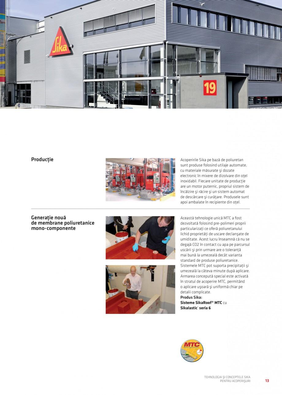 Pagina 13 - Tehnologia si conceptele Sika pentru acoperisuri SIKA Sarnafil® TG 66-18,...
