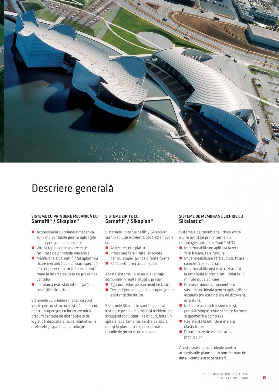 Pagina 15 - Tehnologia si conceptele Sika pentru acoperisuri SIKA Sarnafil® TG 66-18,...