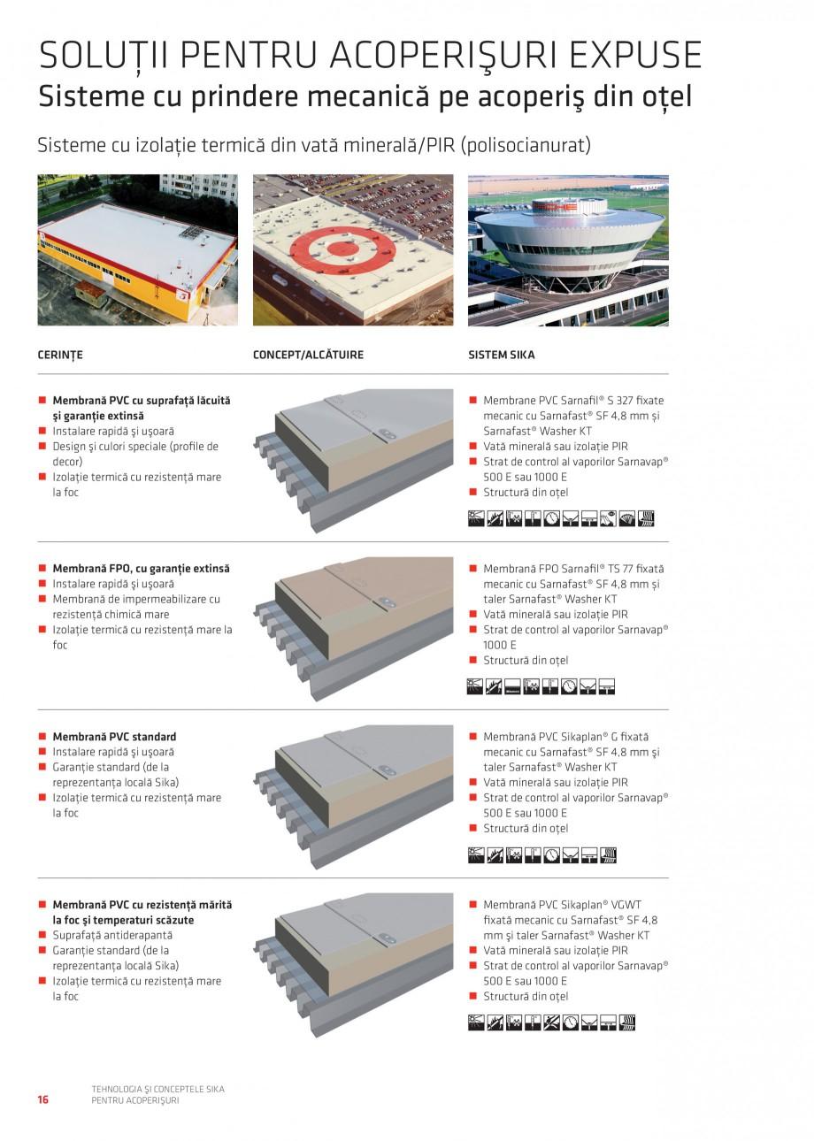 Pagina 16 - Tehnologia si conceptele Sika pentru acoperisuri SIKA Sarnafil® TG 66-18,...