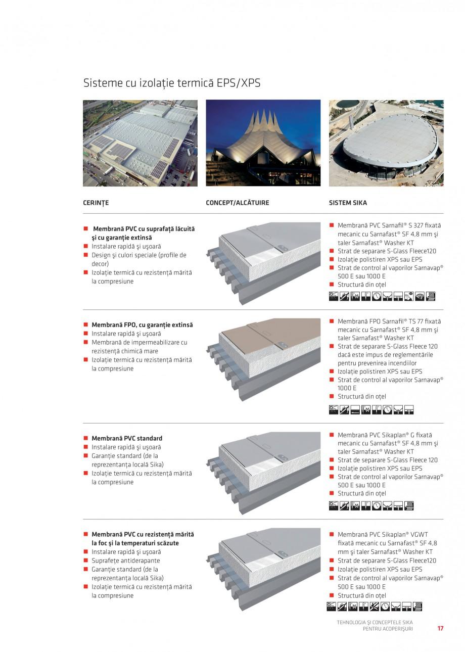Pagina 17 - Tehnologia si conceptele Sika pentru acoperisuri SIKA Sarnafil® TG 66-18,...