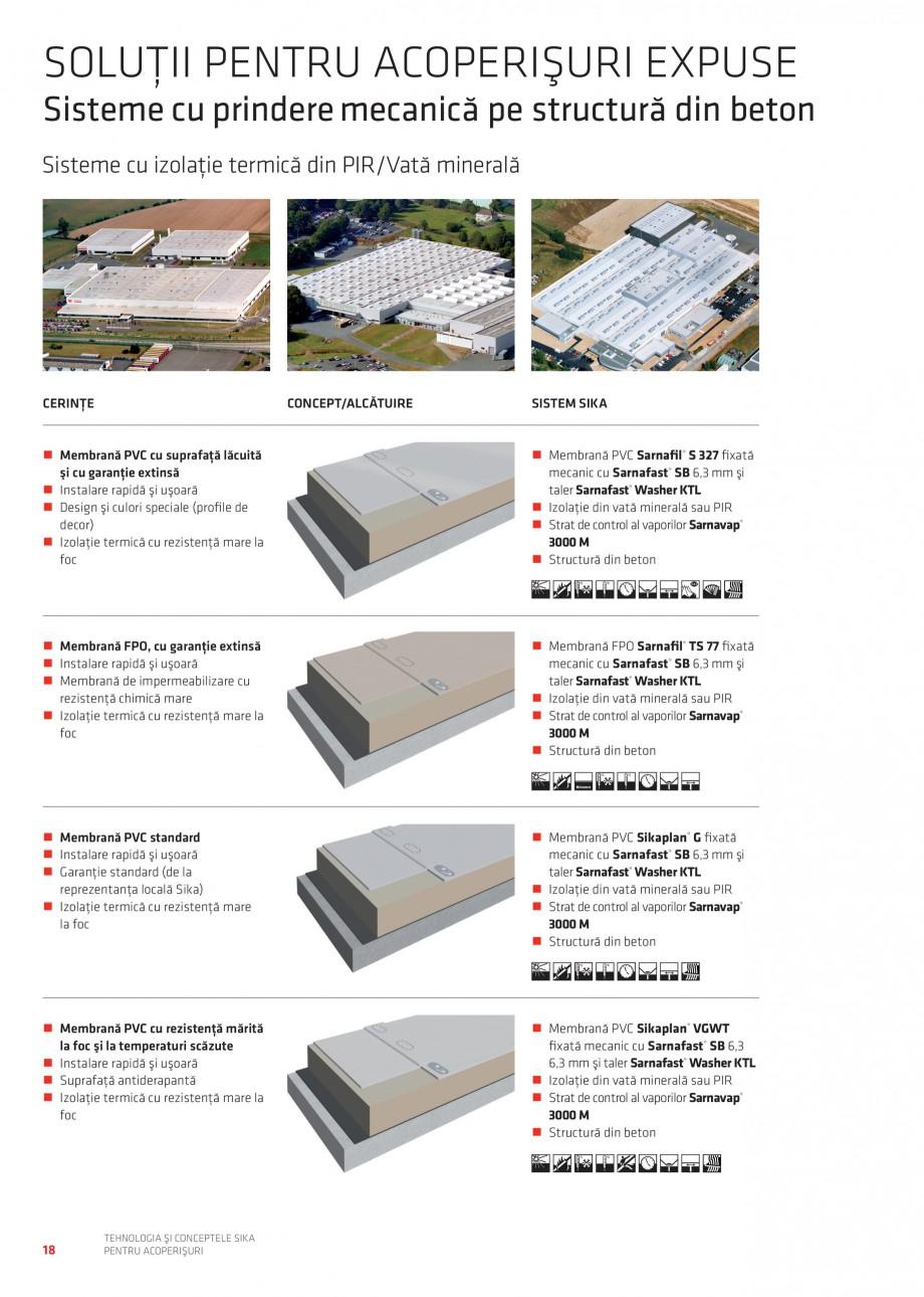 Pagina 18 - Tehnologia si conceptele Sika pentru acoperisuri SIKA Sarnafil® TG 66-18,...