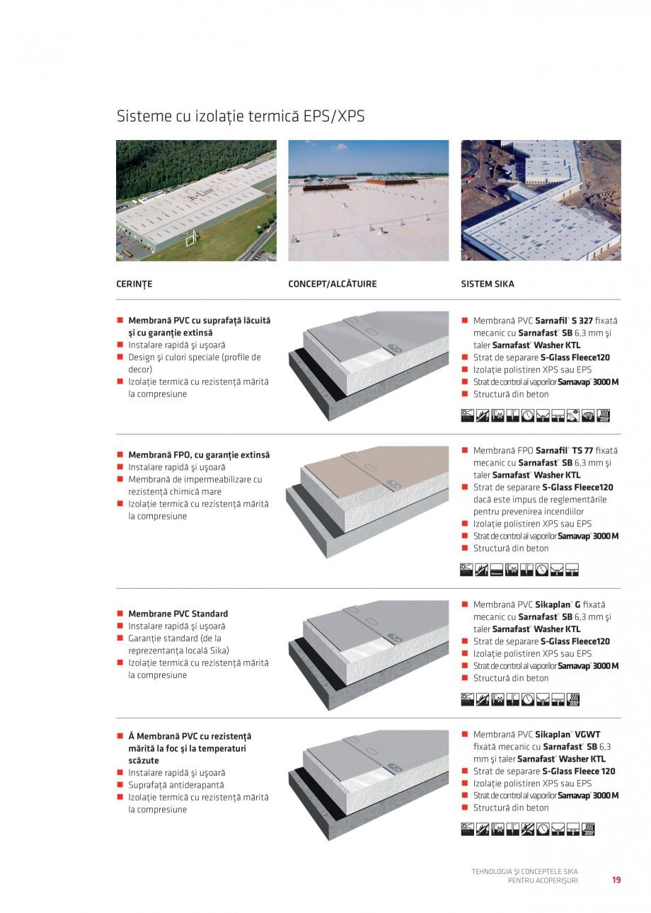Pagina 19 - Tehnologia si conceptele Sika pentru acoperisuri SIKA Sarnafil® TG 66-18,...
