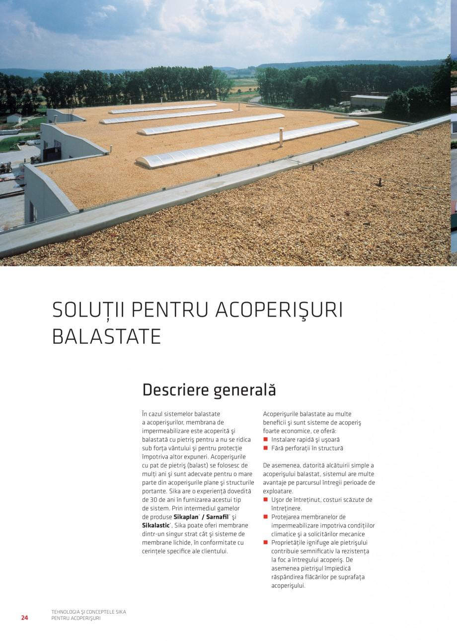 Pagina 23 - Tehnologia si conceptele Sika pentru acoperisuri SIKA Sarnafil® TG 66-18,...