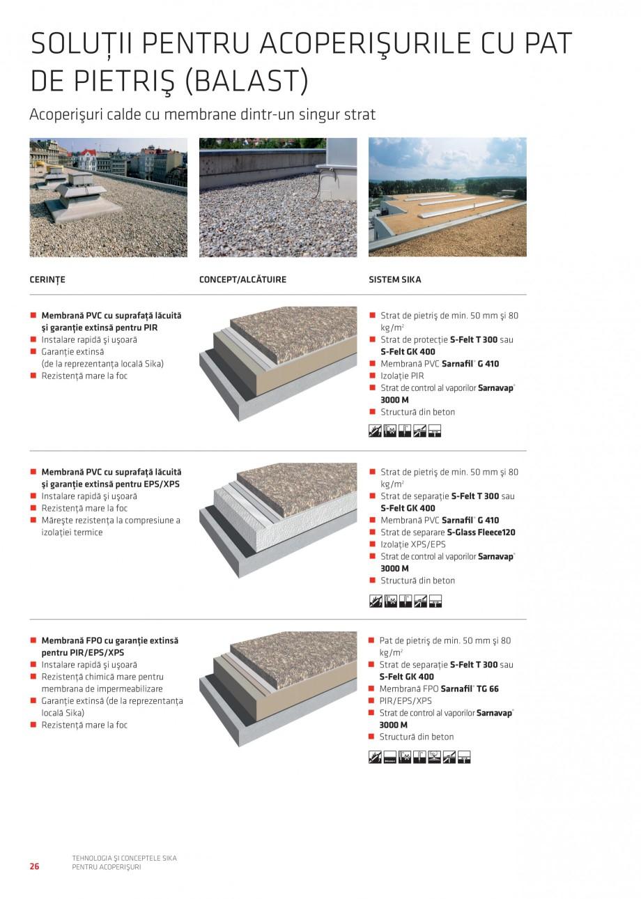 Pagina 25 - Tehnologia si conceptele Sika pentru acoperisuri SIKA Sarnafil® TG 66-18,...