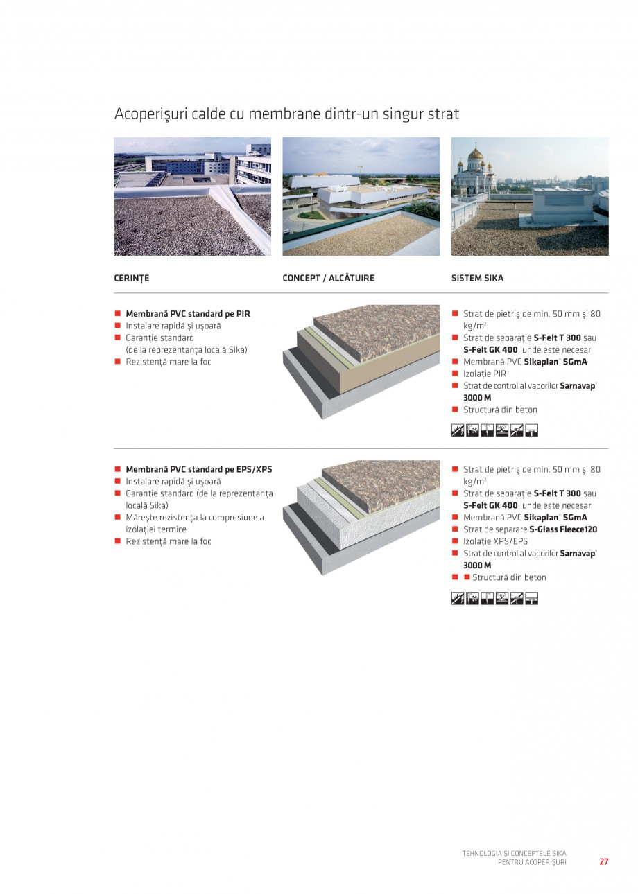 Pagina 26 - Tehnologia si conceptele Sika pentru acoperisuri SIKA Sarnafil® TG 66-18,...