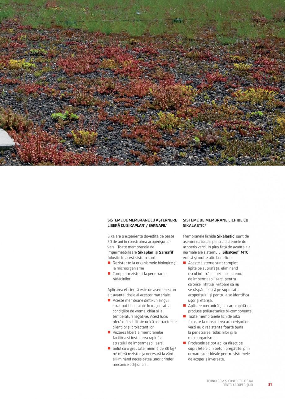 Pagina 30 - Tehnologia si conceptele Sika pentru acoperisuri SIKA Sarnafil® TG 66-18,...