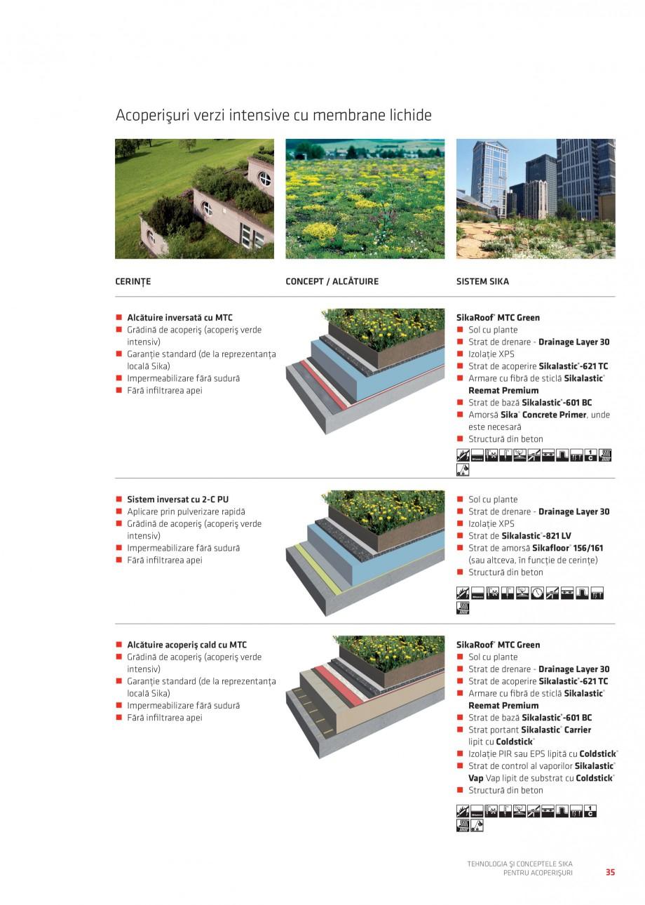 Pagina 34 - Tehnologia si conceptele Sika pentru acoperisuri SIKA Sarnafil® TG 66-18,...